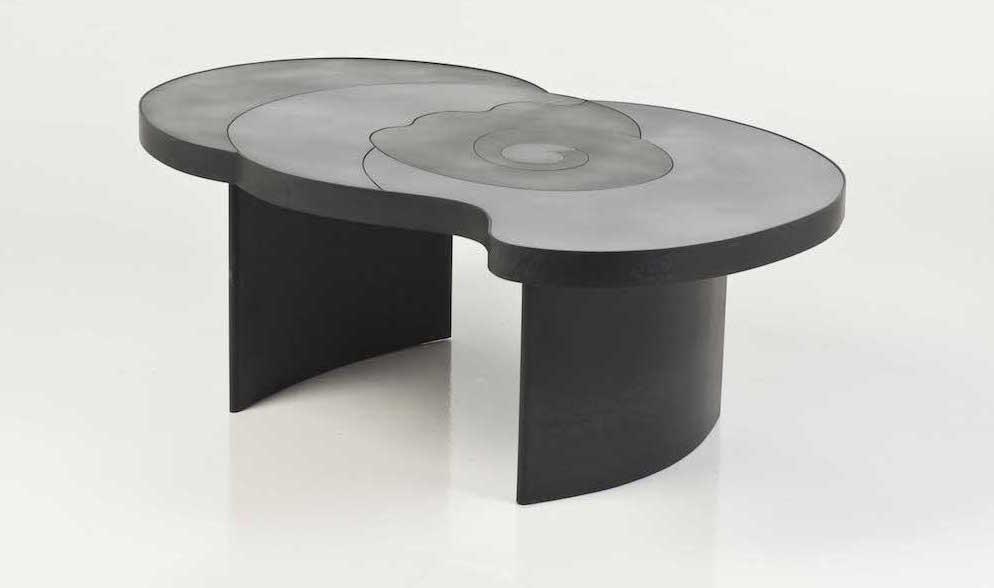 Table Basse acier, création 2013, Claude de Muzac