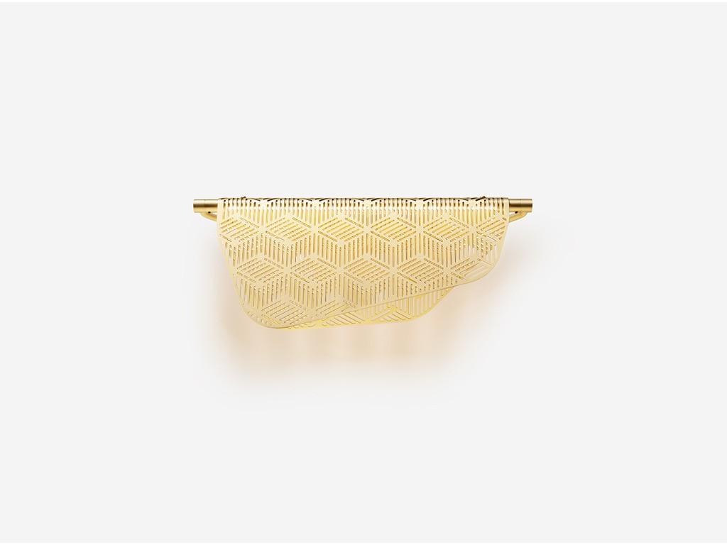 Applique LED Mediterranea en laiton brossé, design Noé Duchaufour- Lawrance, Petite Friture
