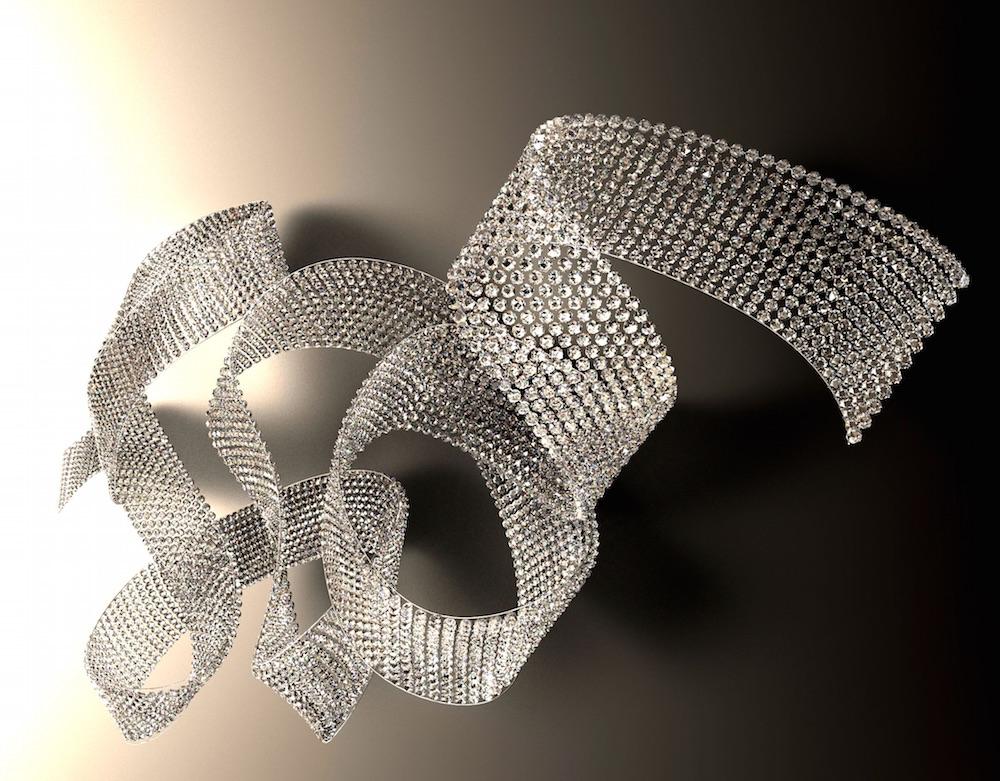 """Applique en cristal """"Streamer"""", design Tana Dvorakova, Lasvit"""