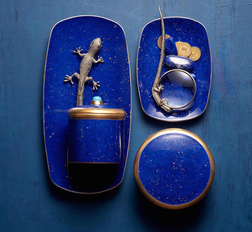 Boites, vide- poche en lapis-lazuli, L'Objet