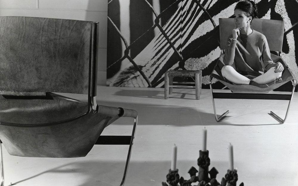 Fauteuil F444 l'icône de Pierre Paulin, 1963 acier et cuir sellier Édition Artifort Paulin, Paulin, Paulin