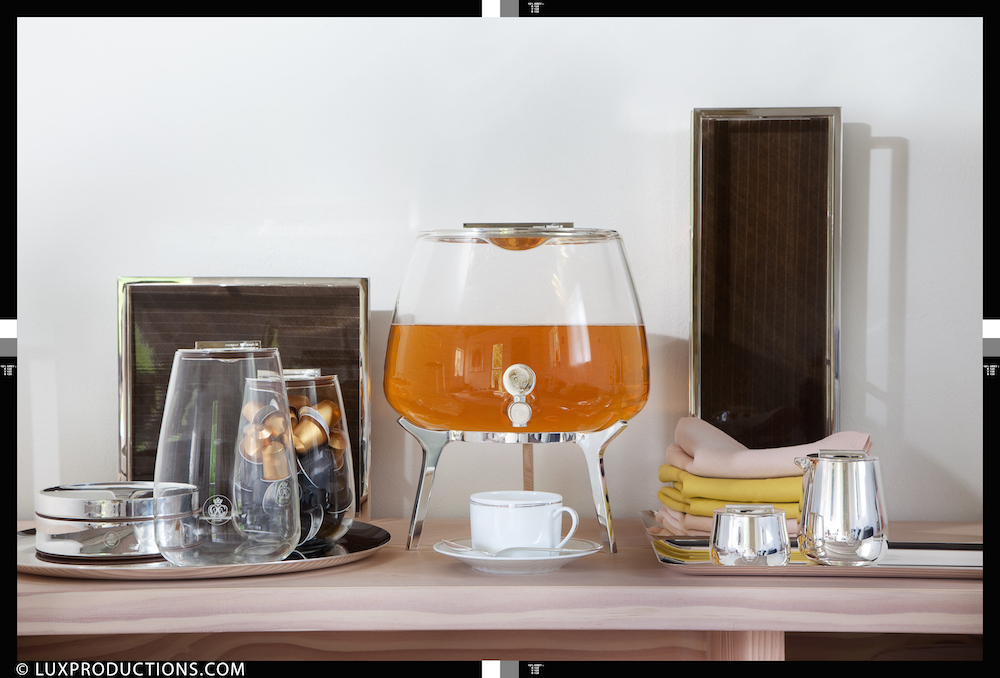 "Fontaine à thé ""Silver Time"" design Jean Marie Massaud, Christofle"