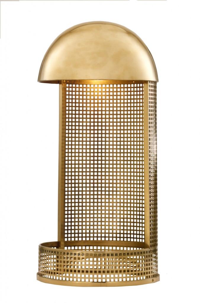 Lampe KM6 or nickelé, design Koloman Moser & Wiener Werkstaette 1903, Woka