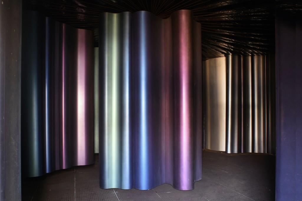 Le Kaléicycloscope Sculpture installation au Grand Palais à Paris en 1981 Aluminium