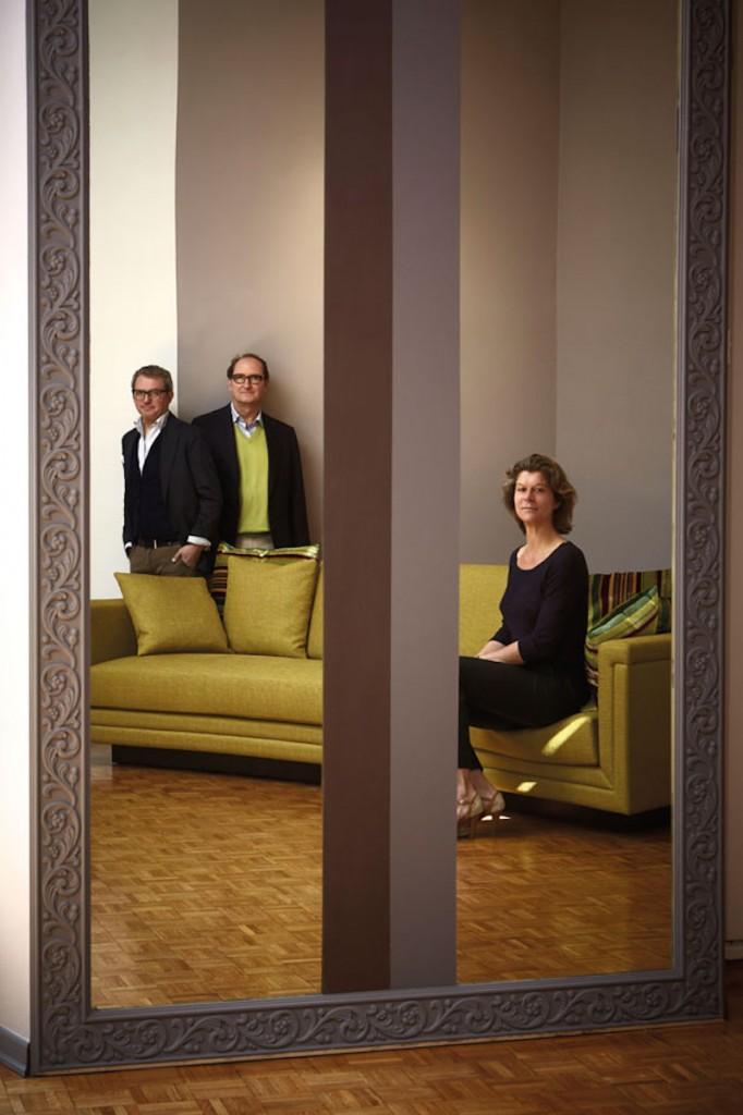Marta Sala et les architectes Carlo Lazzarini et Carl Pickering