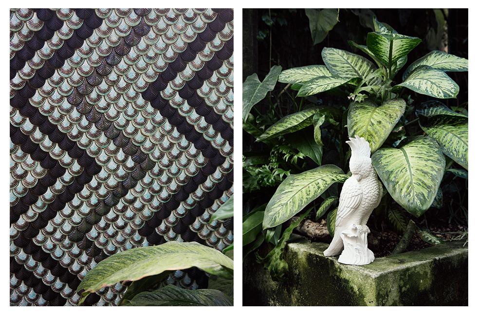 Panneaux de mosaïque en céramique Plumage design Cristina Celestino BottegaNove