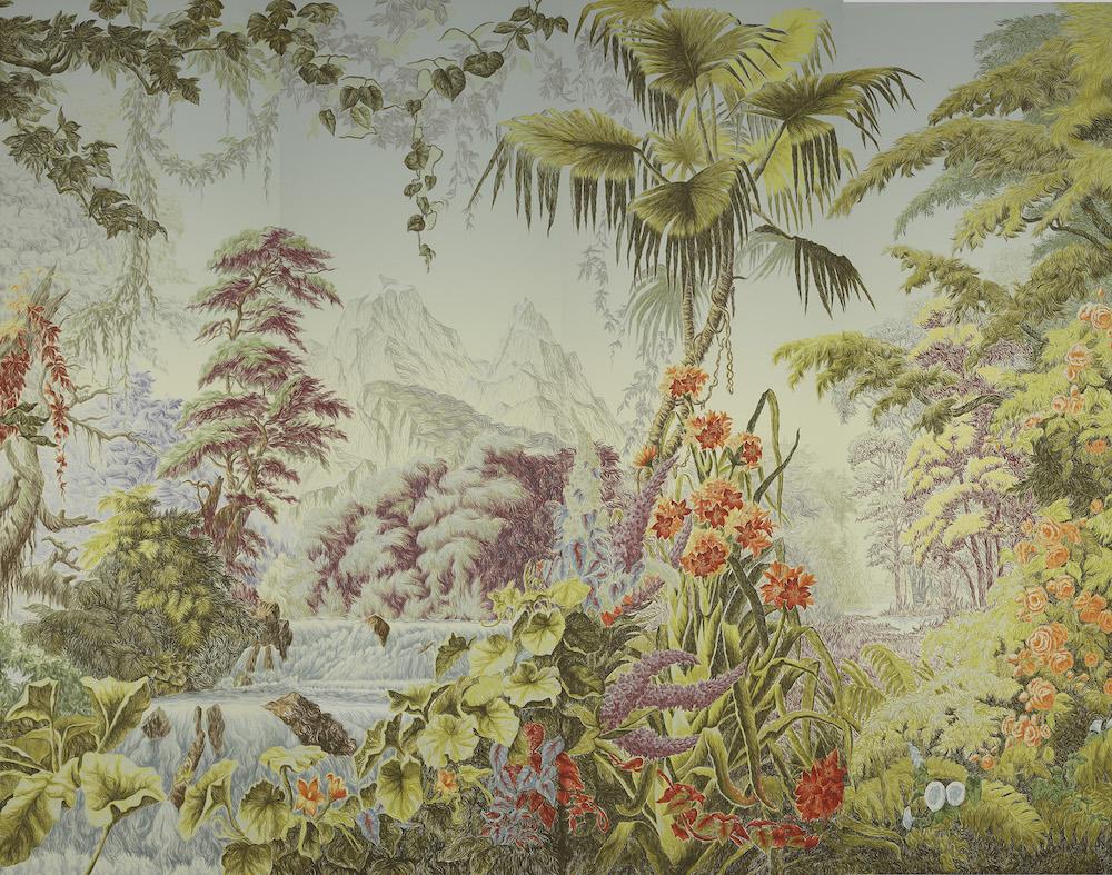 Papier peint L'Éden design in Eden, Van Gogh Tecnique de Gournay