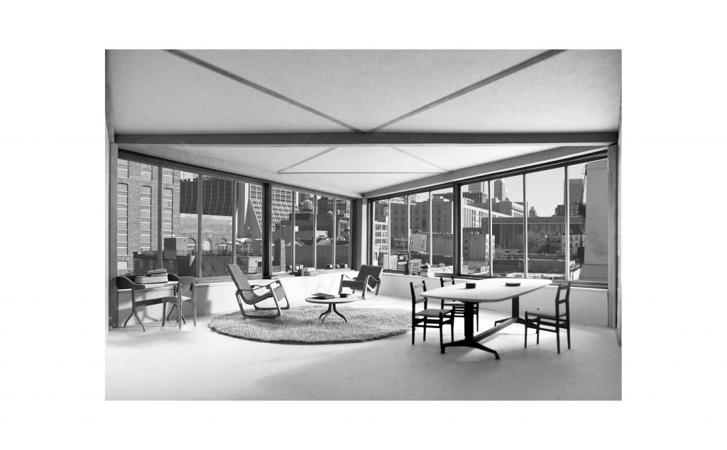 Photographie de maquette par Vincent Dumoy Manhattan's Living Room 2014