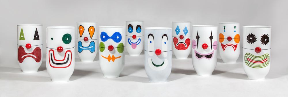 "Pierre Charpin, Vases ""Marbles & Clowns"", Galerie Kreo"