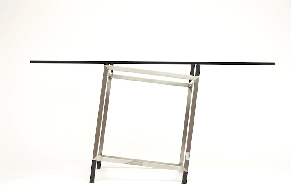 Table Déstabilisation métal et glace 1991 design François Morellet, Magen H Gallery