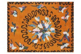 "Tapis Éloge (3x 2.30m) collection ""Ydylle"" dessin Christian Bérard Manufacture Cogolin"