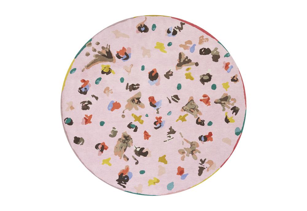 Tapis Jouvence diamètre 2.60m ,Collection Ydylle dessin de Chistian Bérard Manufacture Cogolin