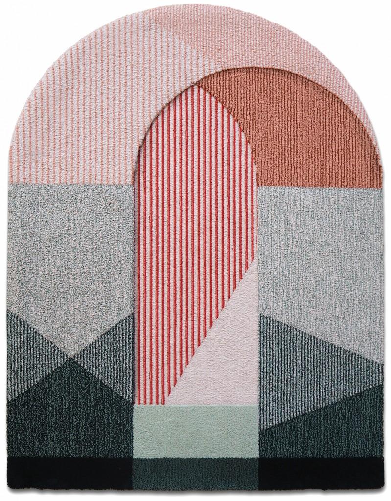 Tapis en pure  laine Sottoportico, design Seraina Lareida, Portego