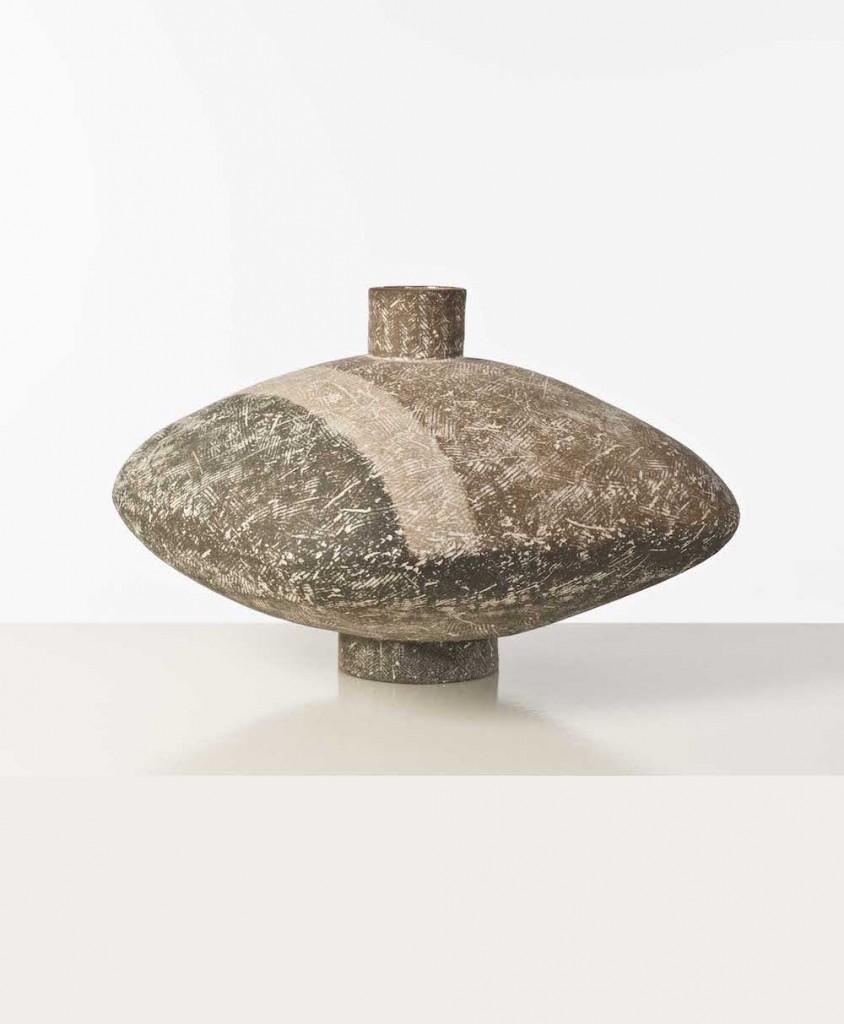 Vase Saalal grès émaillé vers 1960 Claude Conover présenté lors d'une vente chez Piasa